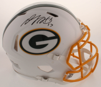 Davante Adams Signed Packers Full-Size Authentic On-Field Matte White Speed Helmet (JSA COA) at PristineAuction.com