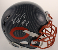 "Brian Urlacher Signed Bears Full-Size Authentic On-Field Hydro-Dipped Helmet Inscribed ""HOF 2018"" (Beckett COA) at PristineAuction.com"