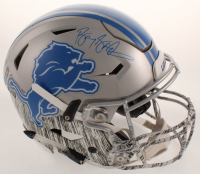 Barry Sanders Signed Lions Full-Size Authentic On-Field Hydro-Dipped SpeedFlex Helmet (Schwartz Sports COA) at PristineAuction.com