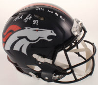 "Noah Fant Signed Broncos Full-Size Authentic On-Field Speed Helmet Inscribed ""2019 1st Rd Pick"" (Beckett COA) at PristineAuction.com"