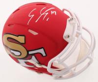 Emmanuel Sanders Signed 49ers AMP Alternate Speed Mini-Helmet (Beckett COA) at PristineAuction.com