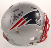 Damien Harris Signed Patriots Full-Size Authentic On-Field Speed Helmet (Beckett COA) at PristineAuction.com