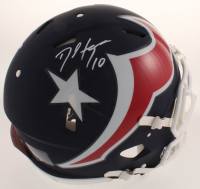 DeAndre Hopkins Signed Texans Full-Size Authentic On-Field AMP Alternate Speed Helmet (JSA COA) at PristineAuction.com