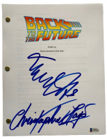 """Christopher Lloyd & Michael J. Fox Signed """"Back to the Future"""" Movie Script (Beckett COA) at PristineAuction.com"""