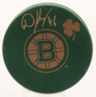 David Krejci Signed Bruins St. Patrick's Day Logo Hockey Puck (Krejci Hologram) at PristineAuction.com