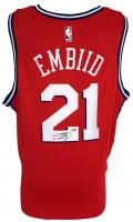 Joel Embiid Signed 76ers Nike Jersey (Fanatics Hologram) at PristineAuction.com