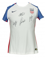 Team USA Nike Soccer Jersey Signed by (4) with Megan Rapinoe, Alex Morgan, Rose Lavelle & Alyssa Naeher (JSA COA) at PristineAuction.com