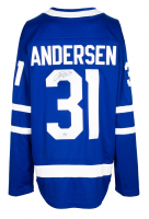 Frederik Andersen Signed Maple Leafs Fanatics Jersey (Fanatics Hologram) at PristineAuction.com