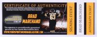 "Brad Marchand Signed Game-Used Hockey Stick Piece Inscribed ""Game Used"" (Marchand COA & YSMS COA) at PristineAuction.com"