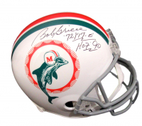 "Bob Griese Signed Dolphins Full-Size Helmet Inscribed ""HOF '90"" & ""'72/""17-0"""" (JSA COA) at PristineAuction.com"
