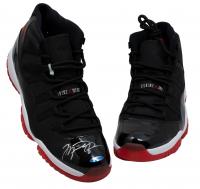 Pair of (2) Michael Jordan Signed Air Jordan XI Basketball Shoes (JSA LOA & UDA COA) at PristineAuction.com