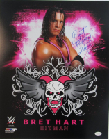"Bret ""Hitman"" Hart Signed WWE 16x20 Photo (JSA COA) at PristineAuction.com"