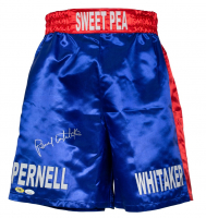 """Pernell """"Sweet Pea"""" Whitaker Signed Boxing Trunks (JSA COA & MAB Hologram) at PristineAuction.com"""