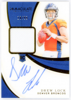 Drew Lock 2019 Immaculate Collection #103 Jersey Autograph RC at PristineAuction.com