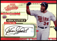 Kirby Puckett 2002 Absolute Memorabilia Absolutely Ink #AI31 at PristineAuction.com