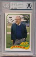 Fay Vincent Signed 2004 Topps All-Time Fan Favorites #146 (BGS Encapsulated) at PristineAuction.com