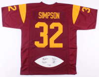Football Panel Jersey Signed by (4) With O.J. Simpson, Marcus Allen, Mike Garrett & Charles White (JSA COA) at PristineAuction.com