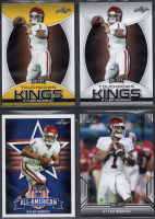 Lot of (4) Kyler Murray 2019 Leaf Draft Football Cards With #Gold #SPKM3 TK, #SPKM3 TK, #SPKM1 & #SPKM2 AA at PristineAuction.com