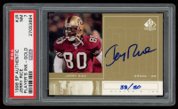 Jerry Rice 1998 SP Authentic Player's Ink Gold #JR (PSA 7) at PristineAuction.com