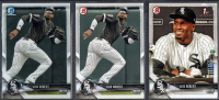 Lot of (3) Luis Robert 2018 Bowman Baseball Cards With Chrome Draft #BDC188, Draft #BD188, Prospects #BP21 at PristineAuction.com