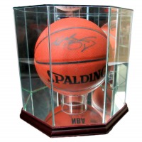 Kobe Bryant Signed NBA Basketball with Display Case (PSA LOA) at PristineAuction.com