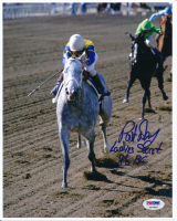 "Pat Day Signed 8x10 Photo Inscribed ""Ladies Secret"" & ""86BC"" (PSA COA) at PristineAuction.com"