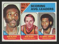 1975-76 Topps #1 Bob McAdoo/Rick Barry/Kareem Abdul-Jabbar LL at PristineAuction.com