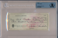 Vince Lombardi Signed 1964 Personal Bank Check (BGS Encapsulated) at PristineAuction.com