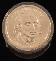 Ballistic Roll of (12) 2007-D James Madison Presidential $1 Dollar Coins (Uncirculated) at PristineAuction.com