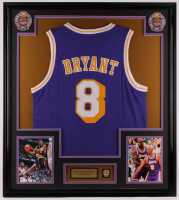 Kobe Bryant Lakers 32x36 Custom Framed Jersey with Lakers Pin at PristineAuction.com