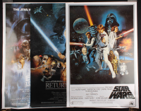 "Lot of (3) Star Wars 27x39 Movie Posters with ""Star Wars"", ""Star Wars: The Empire Strikes Back"" & ""Star Wars: Return of the Jedi"" at PristineAuction.com"