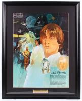 Vintage 1977 Coca Cola Star Wars 24.5x30.5 Custom Framed Poster Display at PristineAuction.com