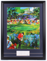 "LeRoy Neiman Signed ""Tiger Woods"" 24.5x31.5 Custom Framed Cut Display (PSA COA) at PristineAuction.com"