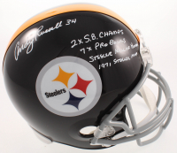Andy Russell Signed Steelers Full-Size Throwback Helmet with (4) Career Stat Inscriptions (TSE COA) at PristineAuction.com