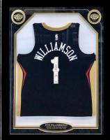 Zion Williamson Signed Pelicans 30x38 Custom Framed Jersey (Fanatics Hologram) at PristineAuction.com