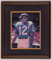 Joe Namath Signed Rams 12.5x14.5 Custom Framed Photo Display with Extensive Inscription (JSA COA) at PristineAuction.com
