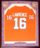Trevor Lawrence Signed Clemson Tigers 30x38 Custom Framed Jersey (JSA LOA) at PristineAuction.com