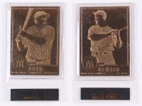 Lot of (2) 1996-03 Danbury Mint 22kt Gold Baseball Cards with #30 Babe Ruth & #43 Lou Gehrig at PristineAuction.com