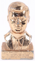 "Vintage John F. Kennedy 4.25"" Brass Bust Figurine at PristineAuction.com"