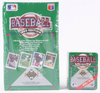 Lot of (2) 1990 Upper Deck Baseball Box of (36) Packs & 1990 Upper Deck High Number Series Box of (99) Baseball Cards at PristineAuction.com