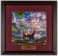 "Thomas Kinkade Walt Disney's ""Tangled"" 18x18.5 Custom Framed Print Display at PristineAuction.com"