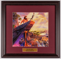 "Thomas Kinkade Walt Disney's ""The Lion King"" 18x18.5 Custom Framed Print Display at PristineAuction.com"