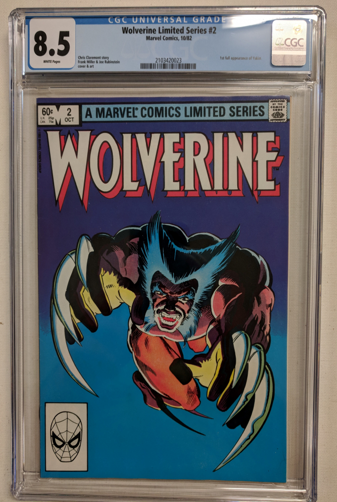 "1982 ""Wolverine"" Issue #2  Marvel Comic Book (CGC 8.5) at PristineAuction.com"