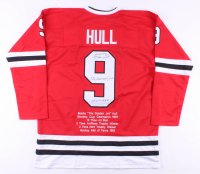"Bobby Hull Signed Career Highlight Stat Jersey Inscribed ""The Golden Jet"" & ""HOF 1983"" (JSA COA) at PristineAuction.com"