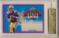 Joe Burrow 2020 Leaf Metal Draft State Pride Pre-Production Proof Clear Purple (Leaf Authentic) at PristineAuction.com