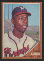 Hank Aaron 1962 Topps #320 at PristineAuction.com