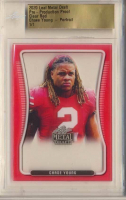 Chase Young - Portrait 2020 Leaf Metal Draft Pre-Production Proof Clear Red (Leaf Authentic) at PristineAuction.com