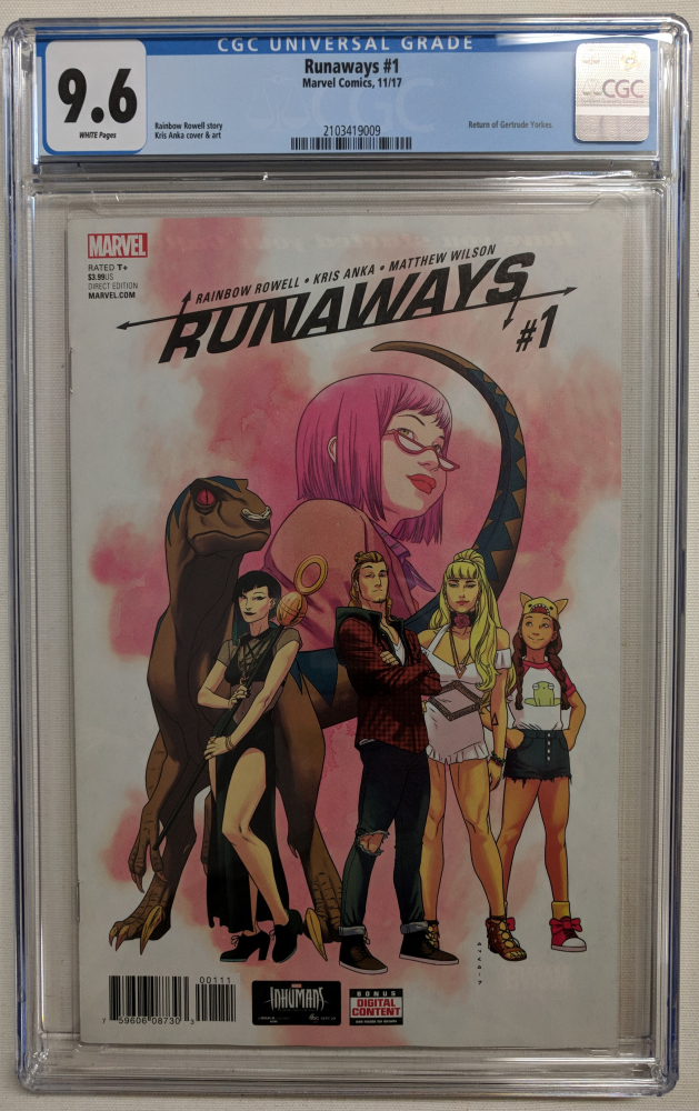 "2017 ""Runaways"" Volume 5 Issue #1 Marvel Comic Book (CGC 9.6) at PristineAuction.com"