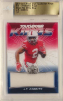 J. K. Dobbins 2020 Leaf Metal Draft Touchdown Kings Pre-Production Proof Clear Red White Blue (Leaf Authentic) at PristineAuction.com