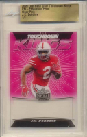 J. K. Dobbins 2020 Leaf Metal Draft Touchdown Kings Pre-Production Proof Clear Pink (Leaf Authentic) at PristineAuction.com